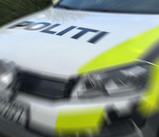 politi up fart trafikkuhell