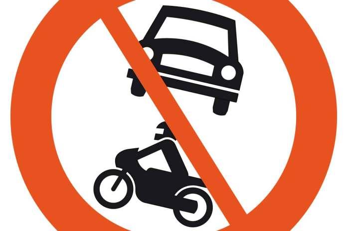 skilt bil motorsykkel forbudsskilt motorkjøretøy forbudt