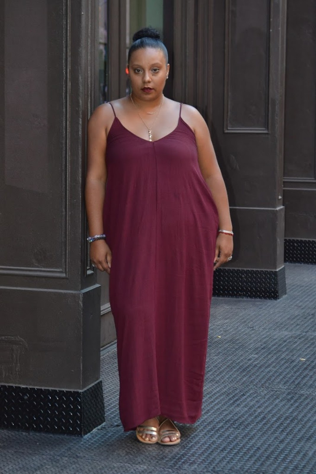 Fall burgundy dress