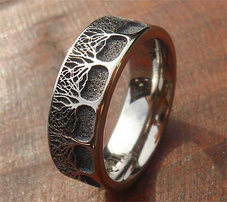 Woodland Forest Amp Trees Titanium Ring LOVE2HAVE In The UK