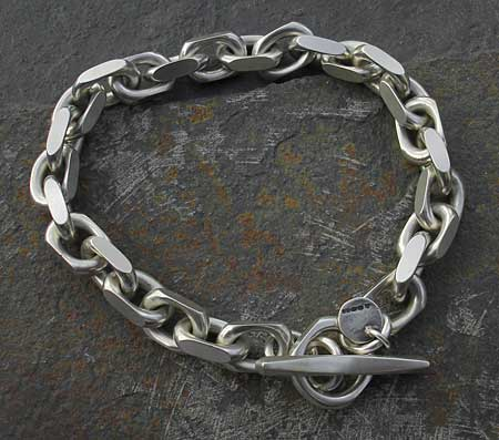 Mens Chunky Silver Chain Bracelet LOVE2HAVE In The UK