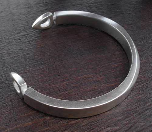 Mens Sterling Silver Cuff Bracelet LOVE2HAVE In The UK