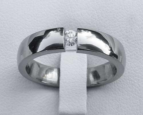 Unique Titanium Diamond Engagement Ring LOVE2HAVE In The UK
