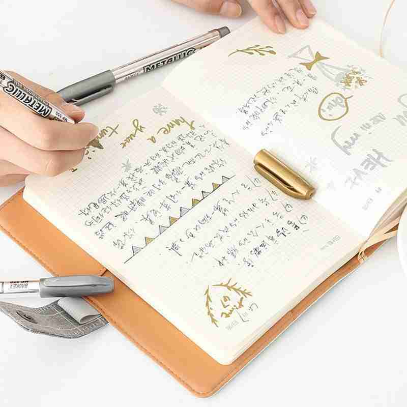 Set of Marking Pens in Gold and Silver Color