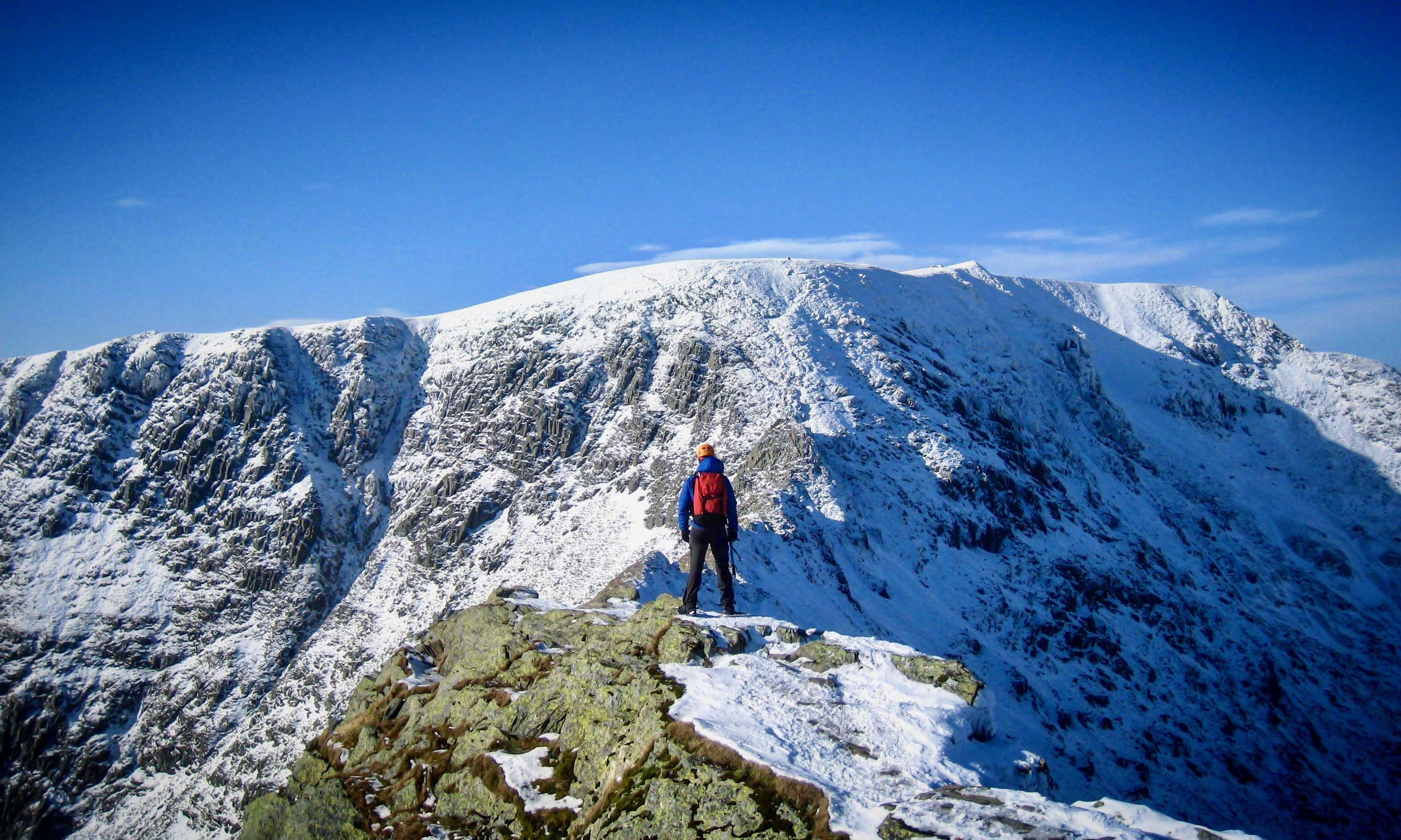 Love Adventures David Love Helvellyn From Striding Edge