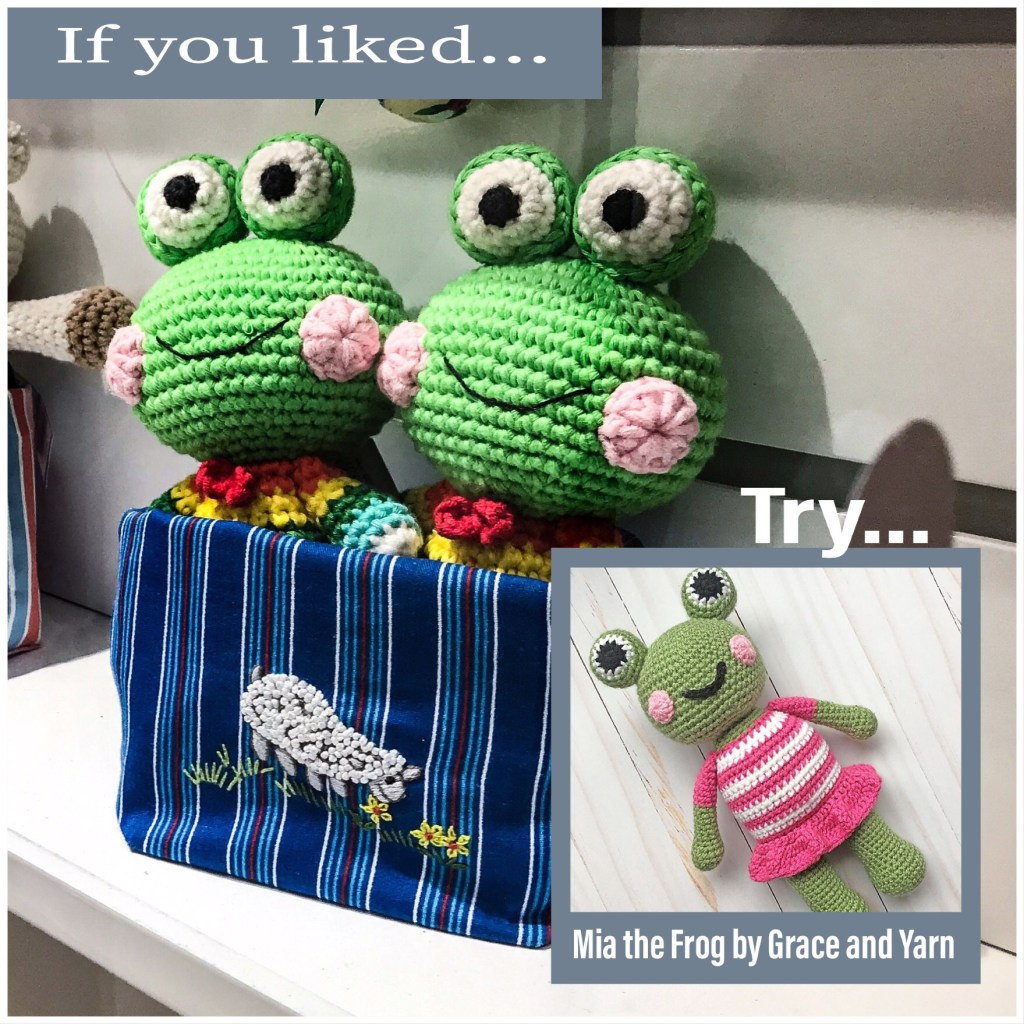 Mia the Frog by Grace and Yarn