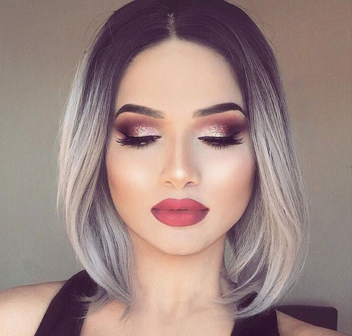 Image Result For Ombre On Short Brown Hair