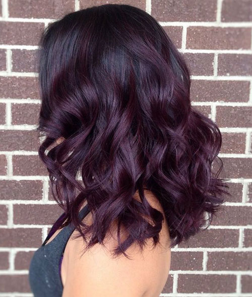 Image Result For Black Hair With Burgundy Highlights