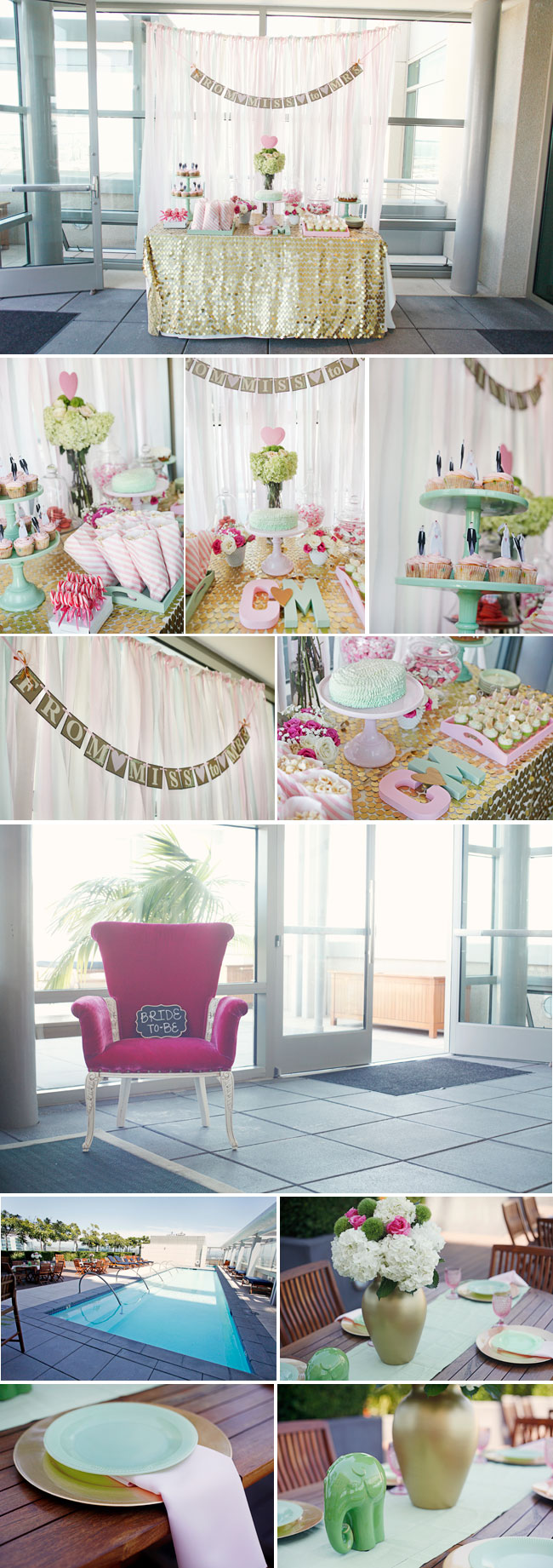 Black White And Pink Table Outdoors