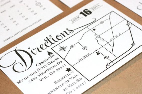 Exle Wedding Direction Enclosure Card