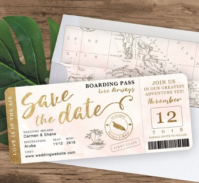 Destination Wedding Save The Date Cards