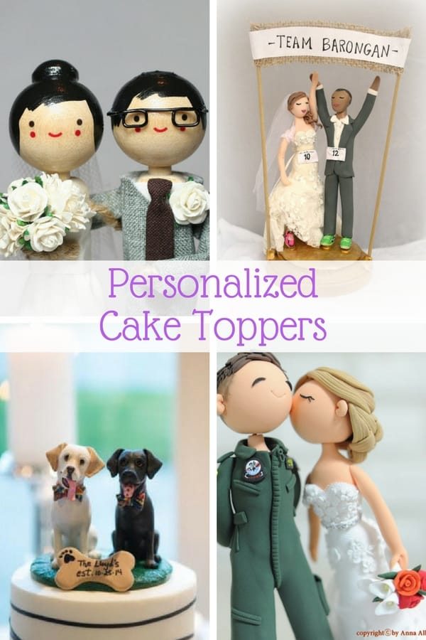 Personalized Wedding Cake Toppers     Guaranteed Smiles  12 Personalized Wedding Cake Toppers