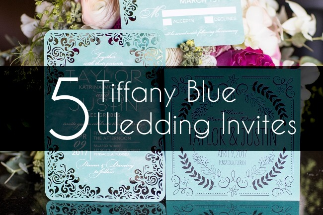 5 Tiffany Blue Wedding Invitations To