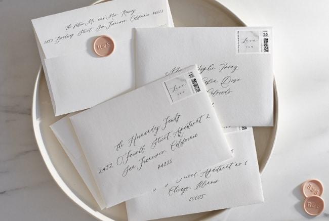 Guide To Addressing Wedding Envelopes