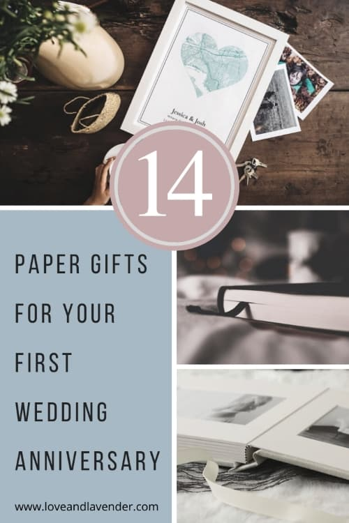 15 Paper Gifts For Your First Wedding Anniversary