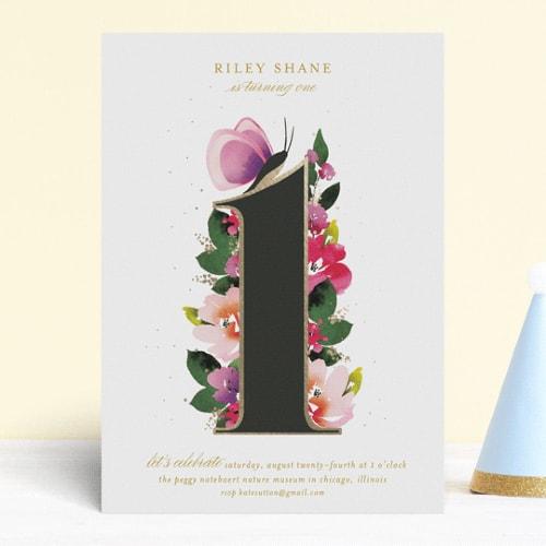 9 cute baby first birthday invitations