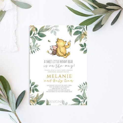 winnie the pooh baby shower invitations
