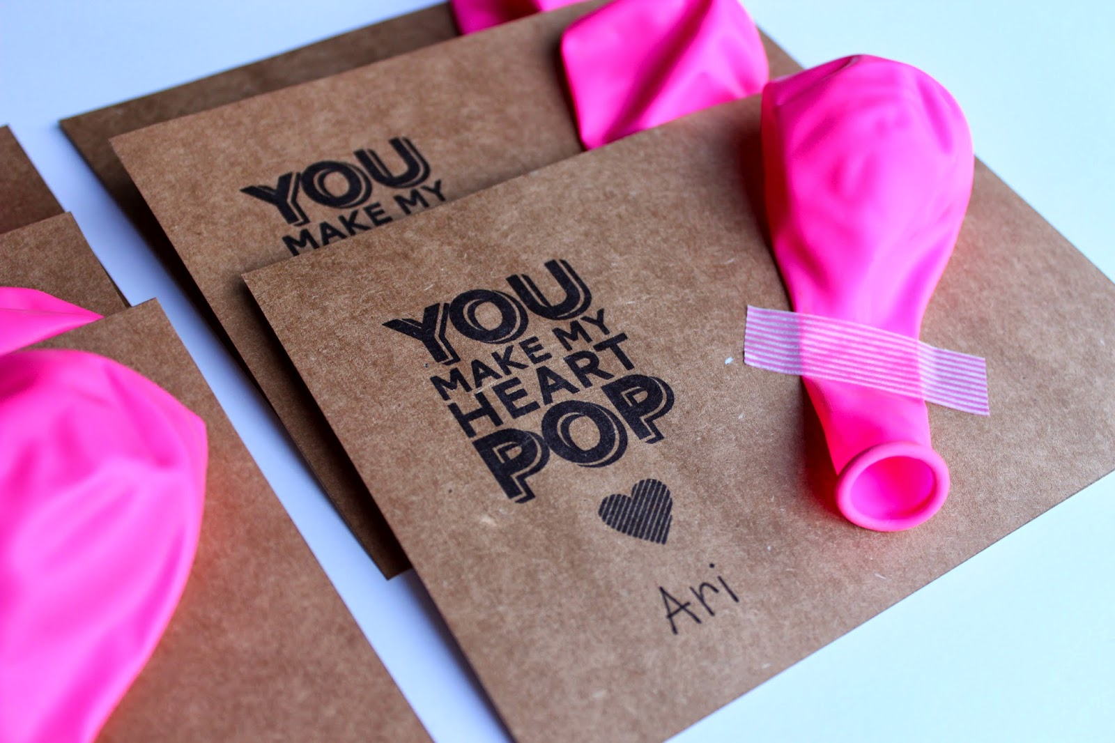 Balloon Valentines For Kids Free Printable