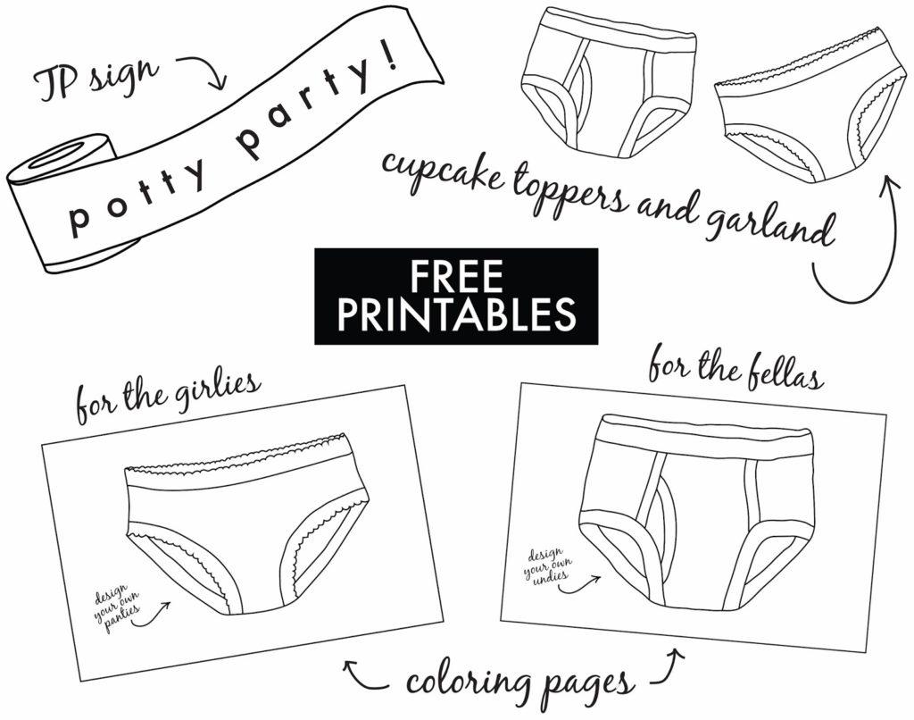 Potty Party Free Printables