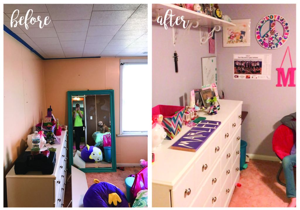 Before & After Marlee's Room | www.loveandmessiness.com