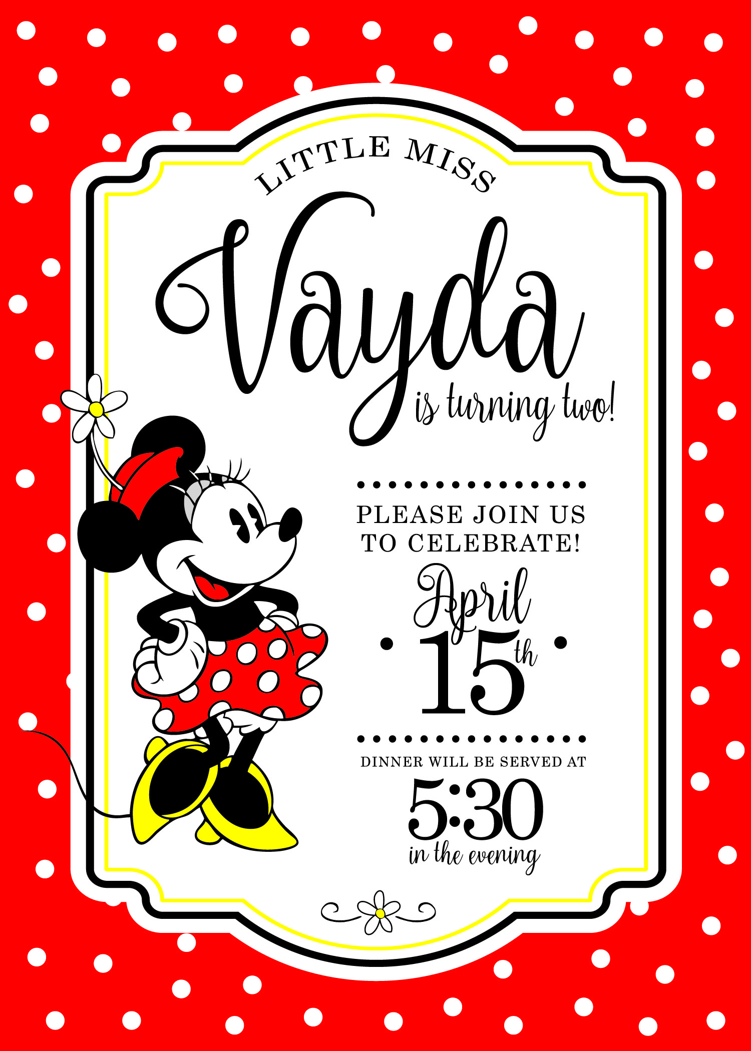 Vayda\'s Classic Minnie 2nd Birthday Party - Love & Messiness