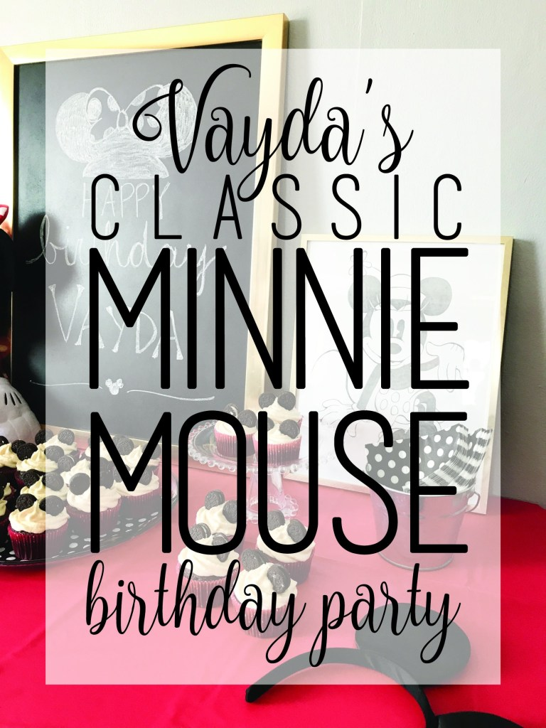 Vayda's Classic Minnie Birthday | www.loveandmessiness.com