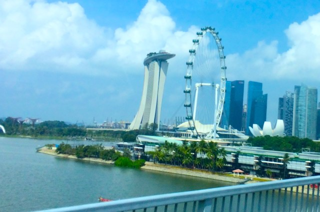 My first glimpse of the Marina Bay area