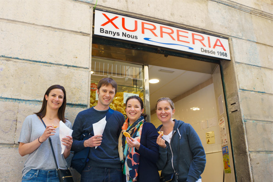 Xurreria Banys Nous, Barcelona Spain