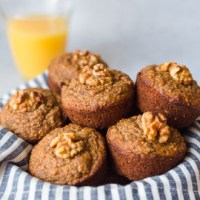 Banana Oat Muffins-Lactation muffins without Brewer's yeast