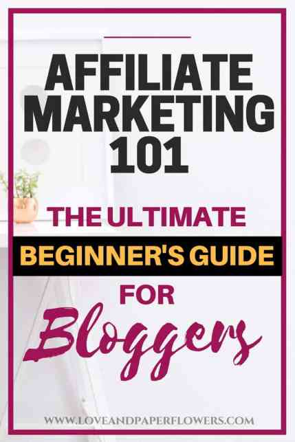 Affiliate marketing is one of the best ways to make money blogging. In this affiliate marketing 101 crash course article we will break down all the aspects of affiliate marketing for beginners and how you can make money blogging. #affiliatemarketing