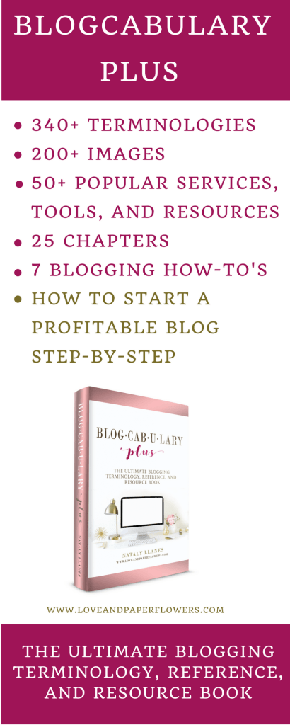 Blogcabulary Plus The Ultimate Blogging Reference and Resource Book