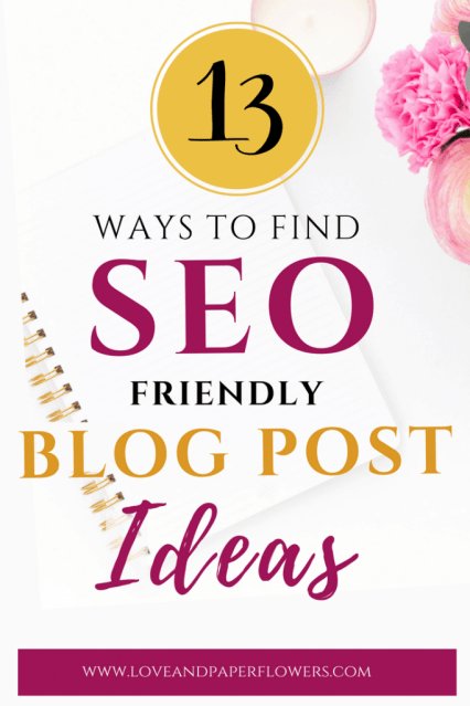 Coming up with blog post ideas is hard, and coming up with SEO-friendly blog post ideas is even harder. Here are 13 ways to find popular blog post ideas. #blogpostideas #SEO #ContentSEO #contentideas #blogcontent #onpostSEO