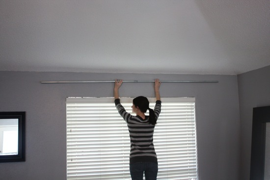 easy diy conduit curtain rod love