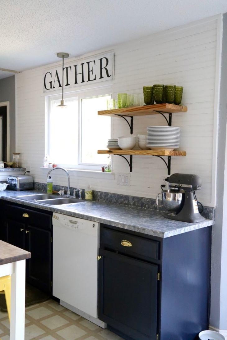 painted faux granite countertop