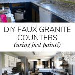 Diy Faux Granite Counters Love Renovations