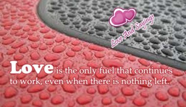 Love Is The Only Fuel ...