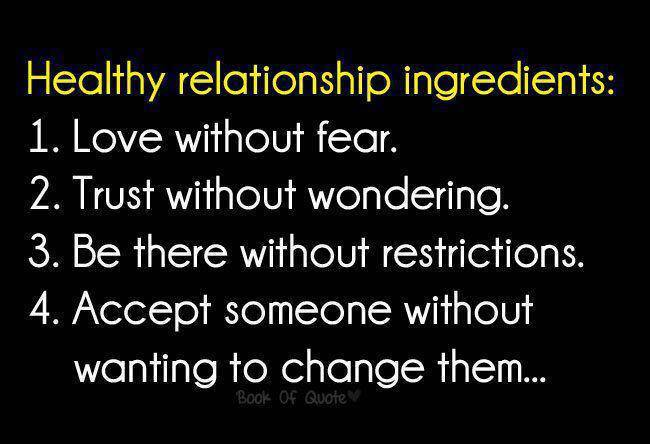 Healthy Relationship Ingredients