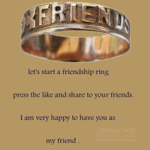 I AM Very Happy TO Have You As My Friend