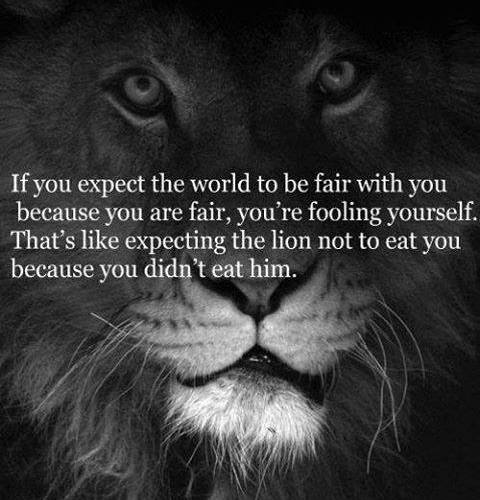 If You Expect The Worl TO Be Fair