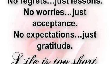 No Regrets Just Lessons Not Worries Just Acceptance