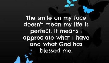 Smile On My Face Doesn't Mean My Life Is Perfect
