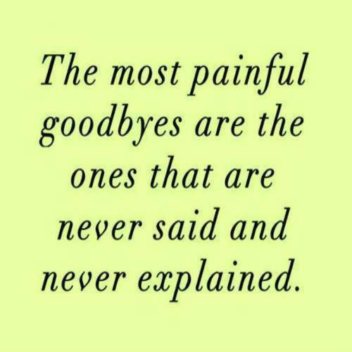The Most Painful Goodbyes