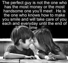 The Perfect Guy is not The One who Has The Mot Money