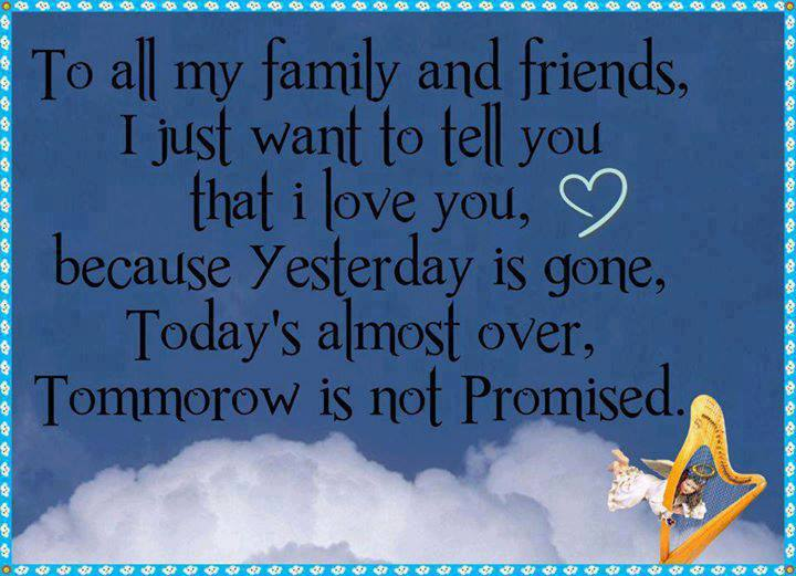 To All My Family And Friends