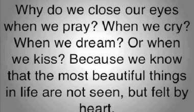 Why Do We Clase Our Eyes When We Pray