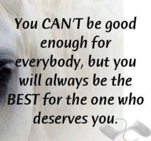 You Cant Be Good Enough FOr Everybody