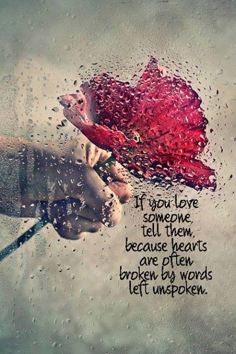 Hearts broken By Words Left unspoken