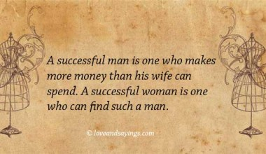 A Successful woman is one