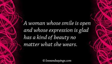 A Woman whoes smile is open