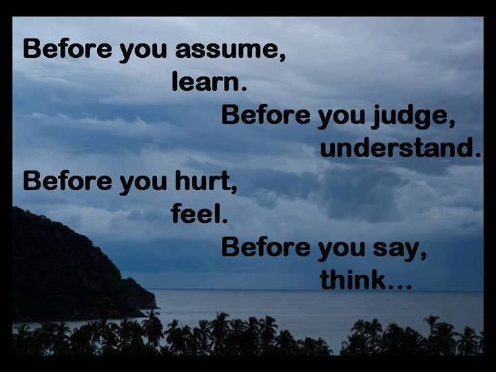 Before You Hurt Feel before You Say Think ...